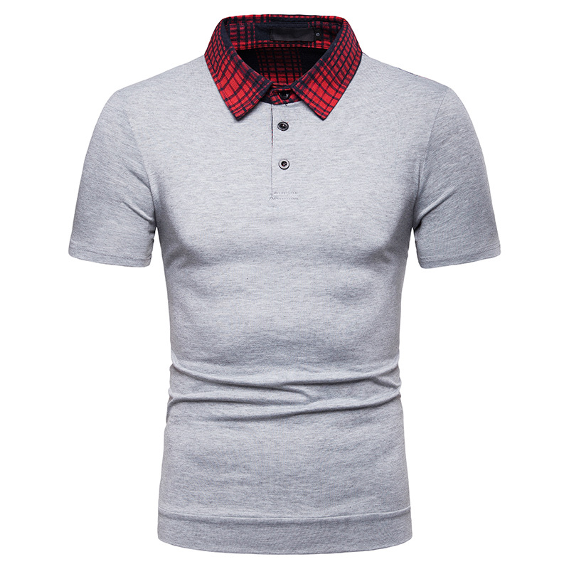 Men's Cotton   POLO   shirt Cotton blend Breathable Splicing Streetwear Men Tops Business Casual short-sleeved   POLO   shirt Men D50