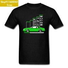 2018 yeni ekip boyun pamuk nefes T Shirt sonbahar erkekler Tops & Tees yeşil otomatik araba T-Shirt araba Styling