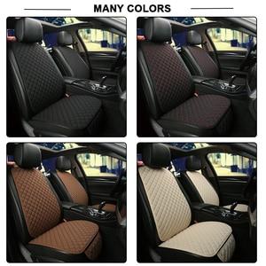 Image 3 - Vlas Auto Seat Cover Protector Voorste Rugleuning Kussen Mat Voor Auto Voor Auto Styling Auto interieur Truck Suv of Van