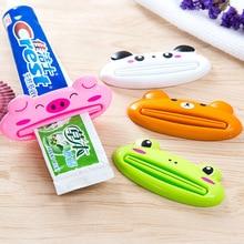 3PCS HOT Plastic CartoonTube Rolling Holder Squeezer Toothpaste Dispenser Easy Use Press Squeezing Tool Home Bathroom