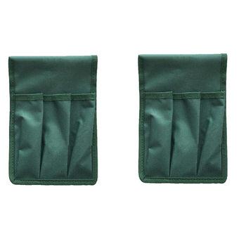 2Pc wielofunkcyjne krzesełko ogrodnicze Seat torby narzędziowe narzędzie ogrodnicze woreczki (zielony) tanie i dobre opinie CN (pochodzenie) Natura Other Hangary i magazynowanie Niepowlekany Ekologiczne Multipurpose Garden Kneeler Seat Tool Bags