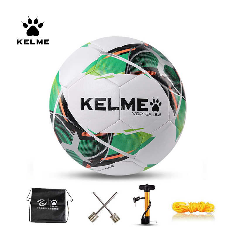 KELME Professional Football Soccer Ball TPU Size 4 Size 5 Red Green Goal Team Match Training Balls 9886130