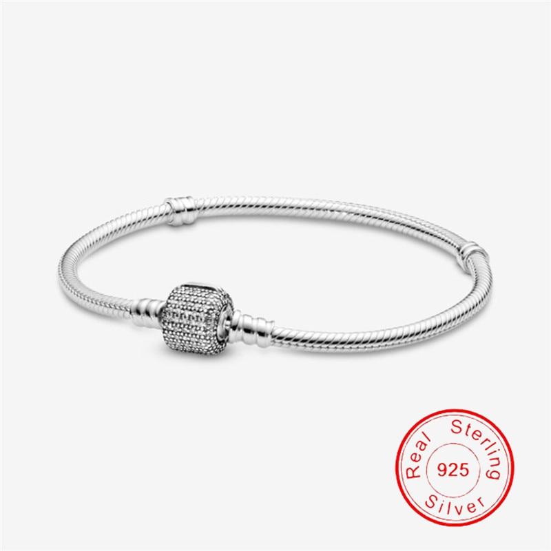 Dorpshipping браслет-цепочка из стерлингового серебра 925 пробы с сердцем и змеей для женщин с логотипом подходит для оригинальных бусин с шармами ...