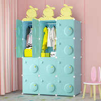 Bedora children's wardrobe simple fabric simple modern baby storage cabinet bedroom assembly baby wardrobe life long free
