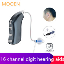 Best 16 channel Hearing Aid Rechargeable Digital Hearing Amplifiers Wireless Audifonos Mini Hearing Aids for 130dB Moderate Loss