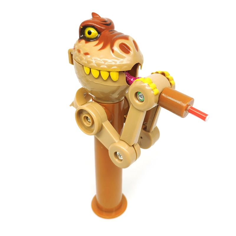 Creative Trick Lollipops Holder Robot  Dinosaur Shape Decompression Toy Gift Q6PD