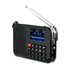 Image 1 - جديد الطاقة الشمسية المحمولة FM جيب سماعات راديو صغيرة تعمل لاسلكيًا مشغل موسيقى مع مصباح يدوي ، مؤقت النوم ، دعم بطاقة TF