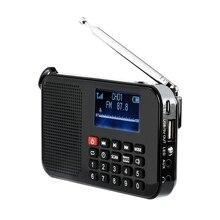 Nuevo altavoz FM portátil Solar de bolsillo, reproductor de música con linterna, temporizador de sueño, soporte para tarjeta TF
