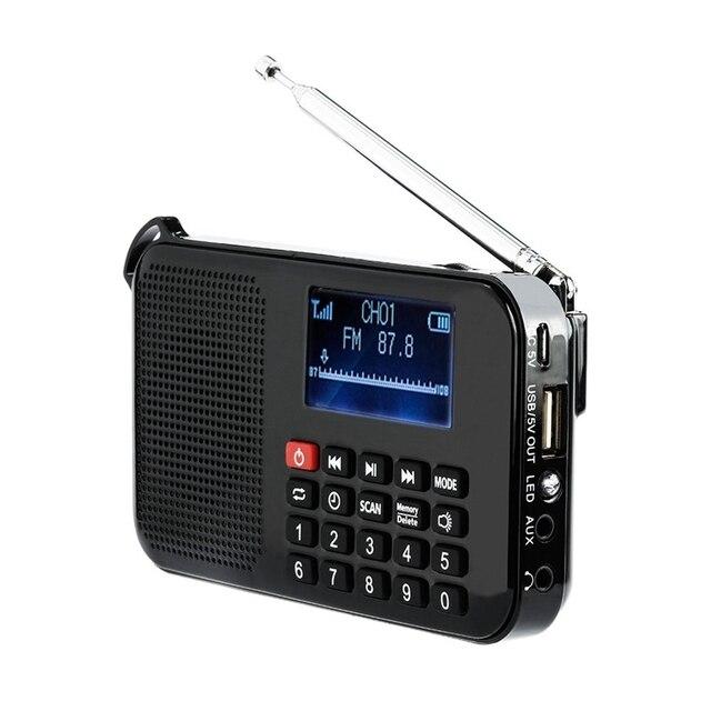 Nuovo Solare Portatile FM Pocket Radio Altoparlante del Giocatore di Musica con la Torcia Elettrica, Timer di Spegnimento, Supporto Carta di TF