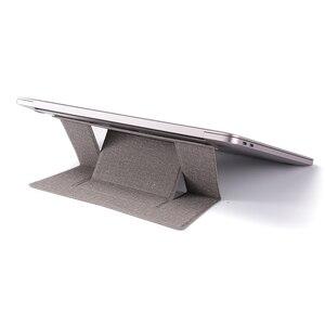 Para iPad MacBook portátiles soporte ajustable para portátil almohadilla adhesiva Invisible compatible con soporte plegable soporte portátil para tableta