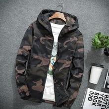 Camouflage mens College Jacket autumn hoodies Windbreaker Coat for men long slee