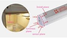 6 واط اليد الاجتياح التبديل LED تحت خزانة المطبخ ضوء غرفة نوم خزانة خزانة أضواء الليل 30 سنتيمتر LED بار ضوء مصباح المنزل داخلي
