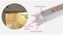 Interruptor de barrido manual de 6W LED bajo el gabinete de cocina luz de dormitorio armario luces de noche 30cm LED barra luz interior hogar lámpara