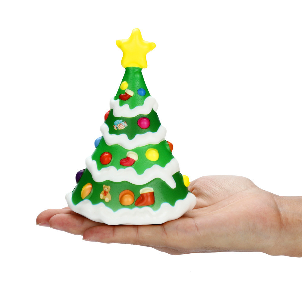 Squishies Kawaii Christmas Tree Slow Rising Cream Scented  Stress Relief Toys Collection Funny Kids Gift Toy