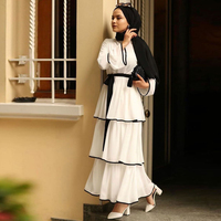 Arab Female Dress Abaya Turkey Islamic Kaftan Muslim Dress Caftan Morocco Tesettur Elbise Robe Longue Vestidos Hijab Maxi Dress