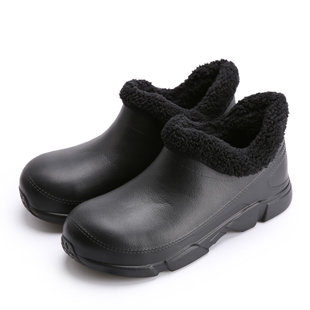Winter Hotel Kitchen Male Chef Shoes Non-slip Waterproof Oil-proof Working Shoes Breathable Resistant Cook Shoes Safety Clogs