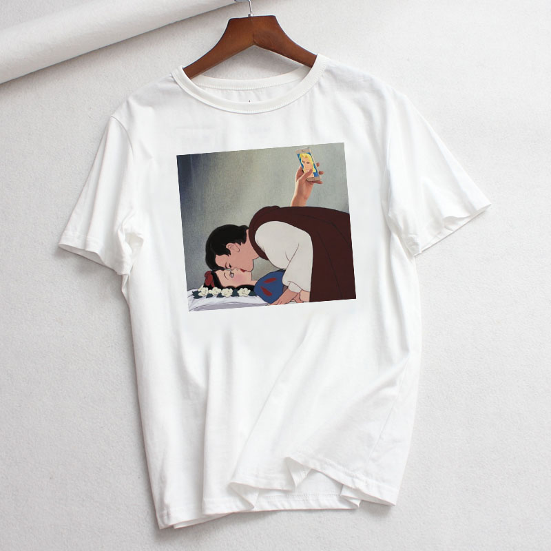 Princess Printed T shirt Women Harajuku Summer 2020 Women Clothes Fashion Casual Funny t shirts Women Streetwear