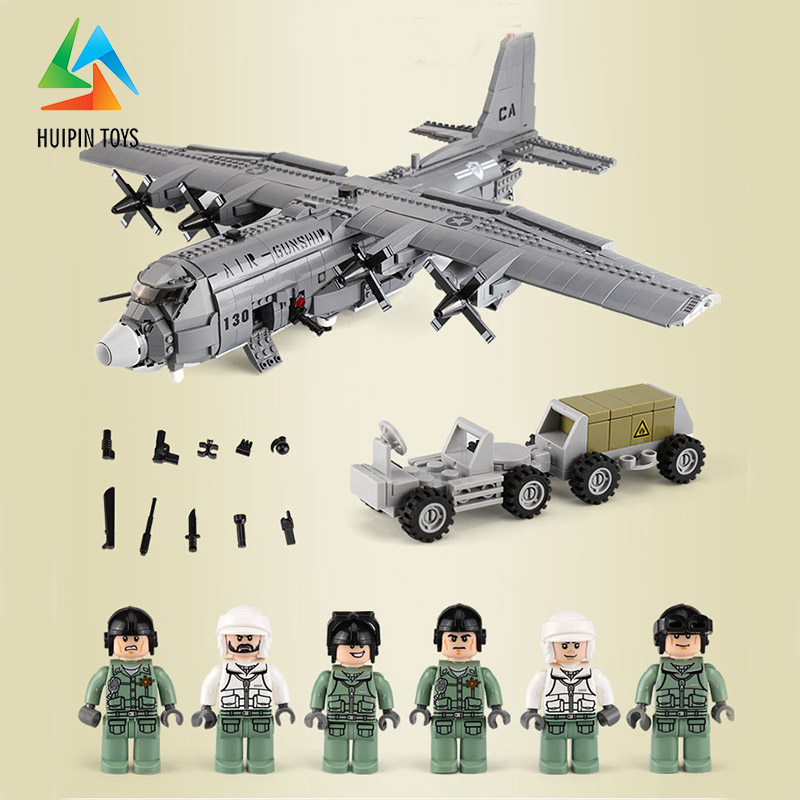 1713Pcs XINGBAO Building Blocks легоe military XB-06023 Military Series Air Gunship AC130 Children Toys Bricks Plane Model 4Px