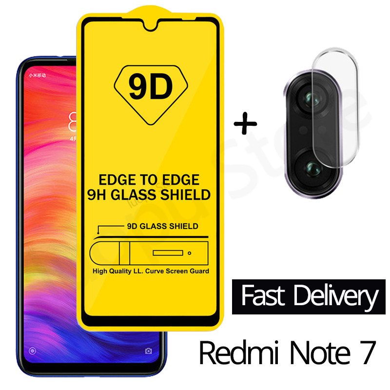 9D Tempered Glass for xiomi Redmi Note 7 8 pro 8T 9s Camera Lens Glass Screen Protector for Xiaomi Redmi 7 8 A 7A Note 9s glass(China)