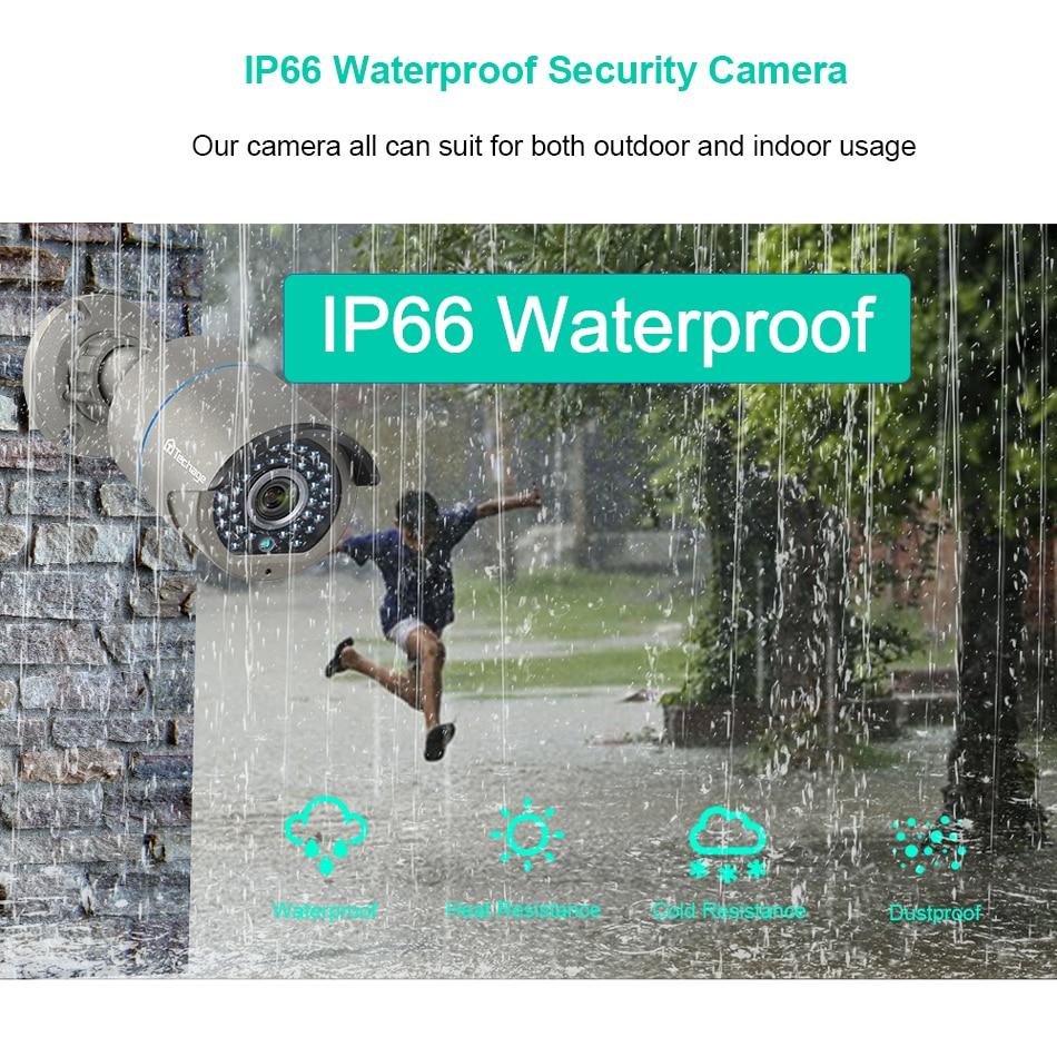 Techage H.265 2.0MP бяспека CCTV POE IP-камеры - Бяспека і абарона - Фота 4