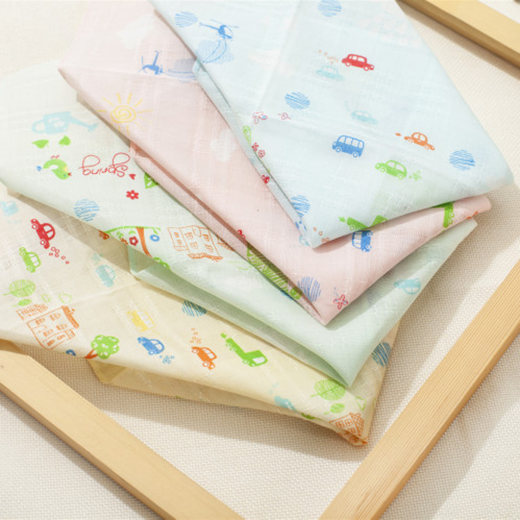 4 Pieces Baby Toddler Little Girls Boys Soft 100% Cotton Hankerchiefs Women Flower Pocket Square Light Color Pañuelo