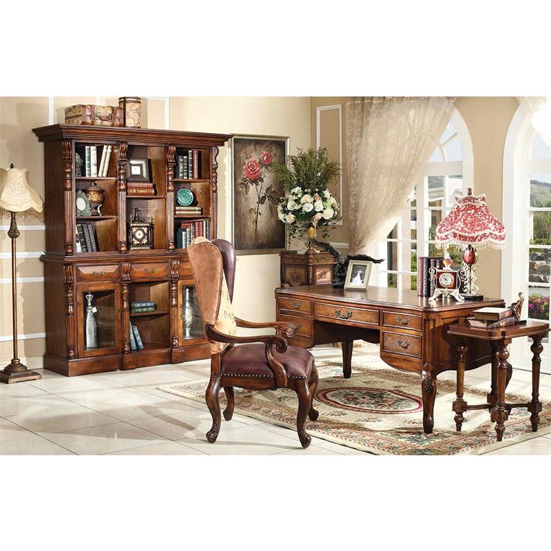 Antique Furniture High Quality Study Table And Study Chair For Study Room Furniture Стол для учебы и стул для учебы GH37