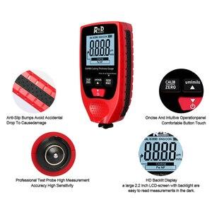 Image 3 - R & D GM998 rosso vernice di spessore di rivestimento calibro auto vernice placca di metallo di spessore di rivestimento tester del tester 0 1500um Fe & NFe probe