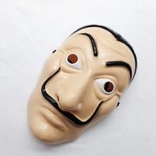 Маска на Хэллоуин Dali, пластиковый бумажный дом La Casa De Papel, украшение для косплея, маскарадные забавные инструменты, забавная светящаяся маска EL Wire