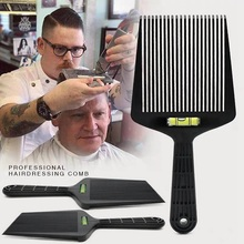1 PC Flat Top Guide Comb Level Flat topper Straight Hair Cut Barbers Salon Combs Hair Styling Tools