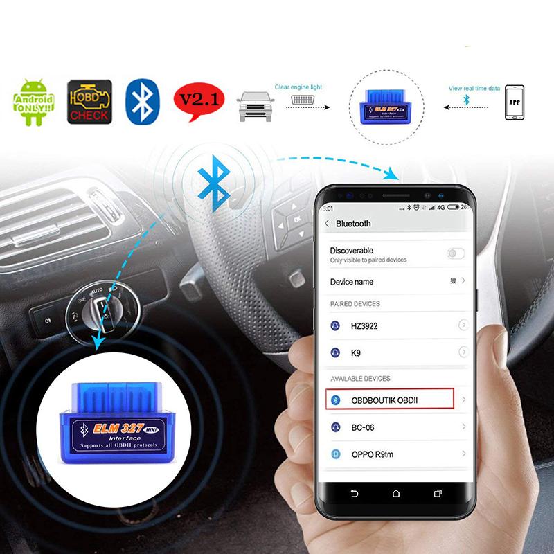 OBD2 Scanner V2.1 ELM327 Car Diagnostic Tool For Lexus IS250 RX300 GS300 CT200H Bluetooth OBDII Scanner ELM 327 Scanner Adapter