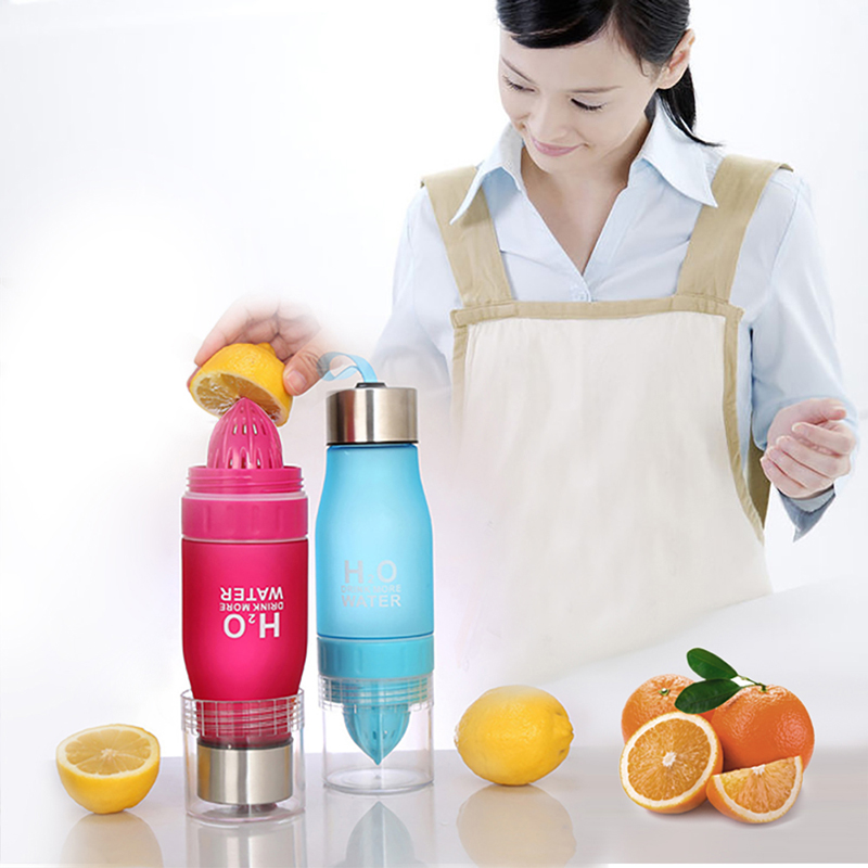 700ML Infuser Water Bottle plastic Fruit infusion Kids Drink Outdoor Sports bottle Juice lemon Portable Kettle-in Water Bottles from Home & Garden on AliExpress
