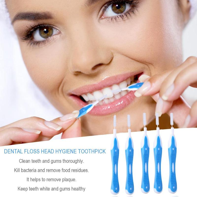 Plastic Toothbrush Interdental Brush Kill Bacteria and Remove Food Residues Dental Orthodontic Braces Oral Care Suit image