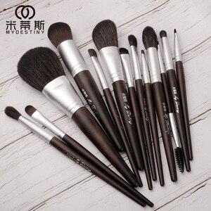 Image 4 - MyDestiny makeup brush black charm 13pcs animal hair brushes set for foundation blush powder eyeshadow etc   The Master Series