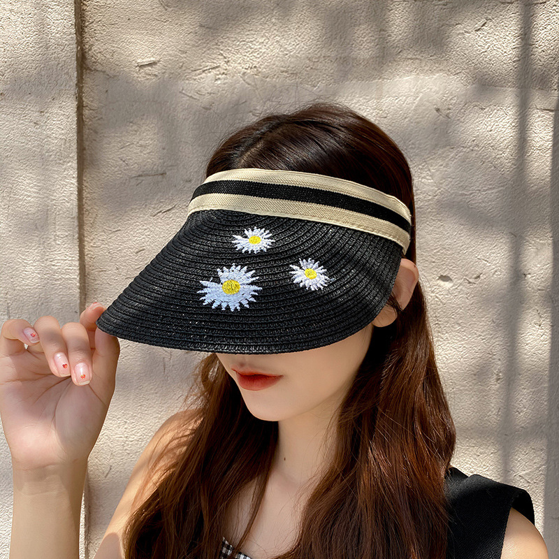 2020 Fashion Parent-Child Straw Hats Wide Large Brim Female Summer Visors Sun Hat Beach UV Protection Child Caps chapeau femme