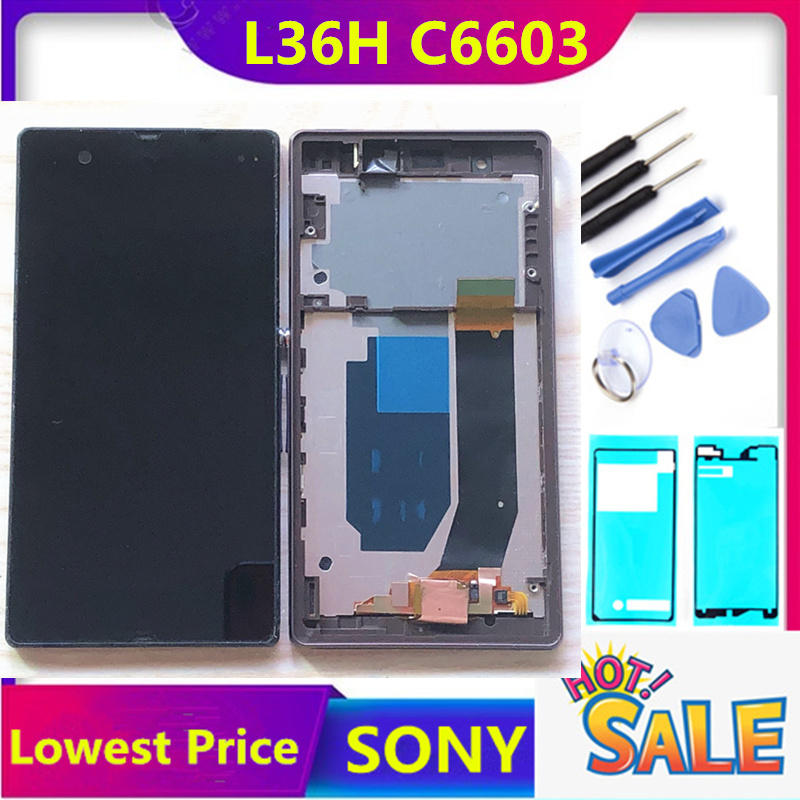 ERILLES L36H LCD For Sony Xperia Z display L36h L36i C6606 C6603 C6602 C6601 Display Touch Screen Digitizer For sony z c6603 lcd