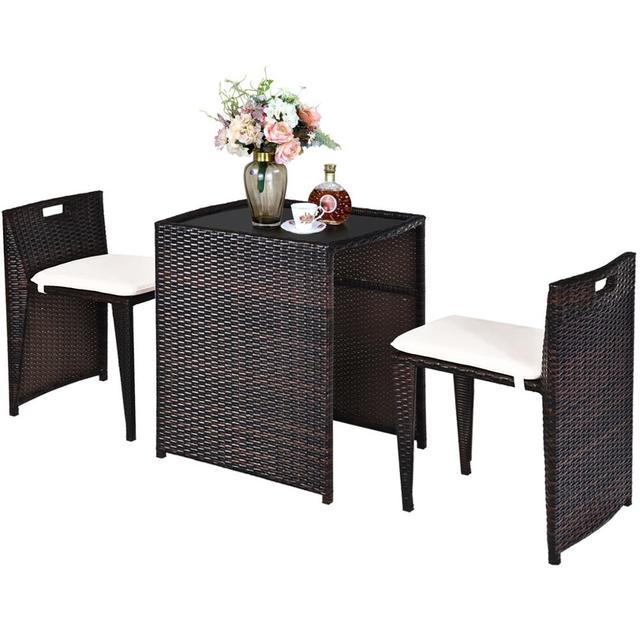 3PCS Outdoor Patio Rattan Furniture Set  1