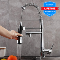 Gavaer Kitchen Faucet Pull Down Nozzle Dual Mode Water Mixer Single Handle Hot Cold 2 Outlet Shower 360 Swivel Kitchen Taps