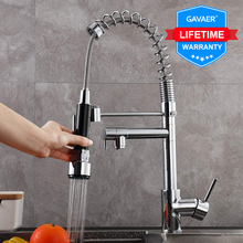 Gavaer Kitchen Faucet Pull Down Nozzle Dual Mode Water Mixer Single Handle Hot Cold 2 Outlet Shower 360 Swivel Kitchen Taps(China)
