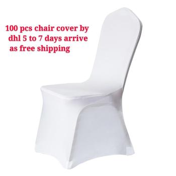 50pcs 100pcs chair cover White Covers for Reataurant Banquet Hotel Dining Party Lycra Polyester Spandex outdoor 1