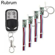 Rubrum akıllı ev kablosuz uzaktan kumanda ışık anahtarı DC 12V 24V 1CH Led ışık ışık anahtarı 433Mhz RF alıcı modülü verici