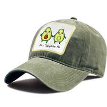 Snapback-Hat Baseball-Cap Avocado Riding-Hats Cartoon-Caps Breathable Sports Unisex Cotton