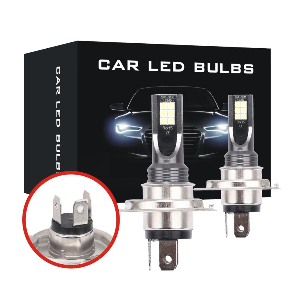 2Pcs H7 H4 led Car Headlight Super Bright Durable H1 H3 H8 H11 HB3 9005 9006 Canbus Fog Lights Turn Signal Lamp Bulbs 3030 Chips