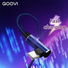 Krótki kabel USB type-c 90 stopni 2.4A 30cm kabel do ładowania danych ładowarka do telefonu komórkowego Samsung S8 Redmi Xiaomi HUAWEI P30