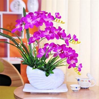 Artificial flowers Butterfly Orchid ceramics Bonsai  Fake flowers Silk Flowers Decoration for Wedding Home desktop Decotation