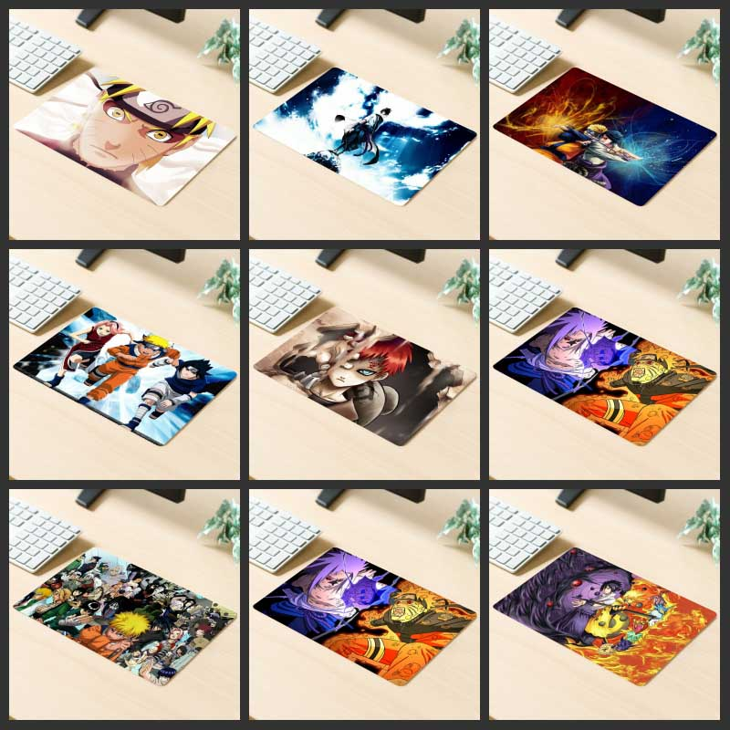 XGZ Promotional Gaming Mouse Pad Japanese Anime Naruto Sakura Computer Keyboard Desk Mat Rubber Non-slip For Lol Dota Gamer