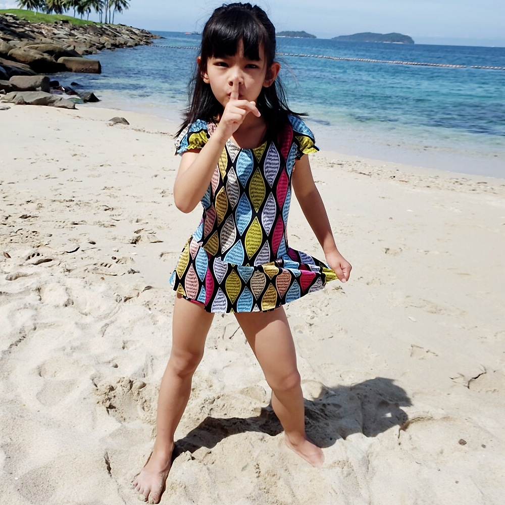Summer New Style Students Big Boy Girls KID'S Swimwear South Korea GIRL'S One-piece Princess Dress-Baby Swim Bathing Suit