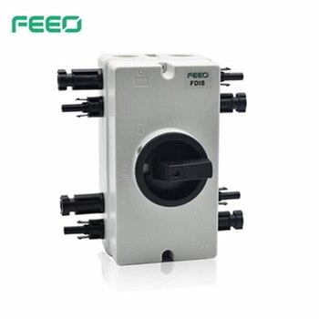 Interruptores de aislamiento a prueba de agua IP66, 4P, 32A, 1000V, 2 fases 1