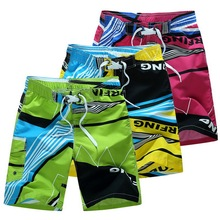 Swimming Trunks Short Plus-Size Summer Casual M-6XL Elastic Loose-Print Quick-Dry Breathable