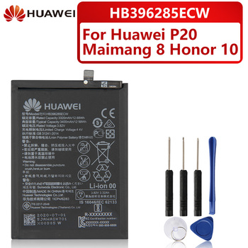 Original Replacement Battery For Huawei P20 EML-AL00 Honor 10 Maimang 8 HB396285ECW Genuine Phone Battery 3400mAh 100% original hua wei replacement phone battery hb396285ecw 3400mah for huawei p20 honor 10 honor10 lite batteries batteria