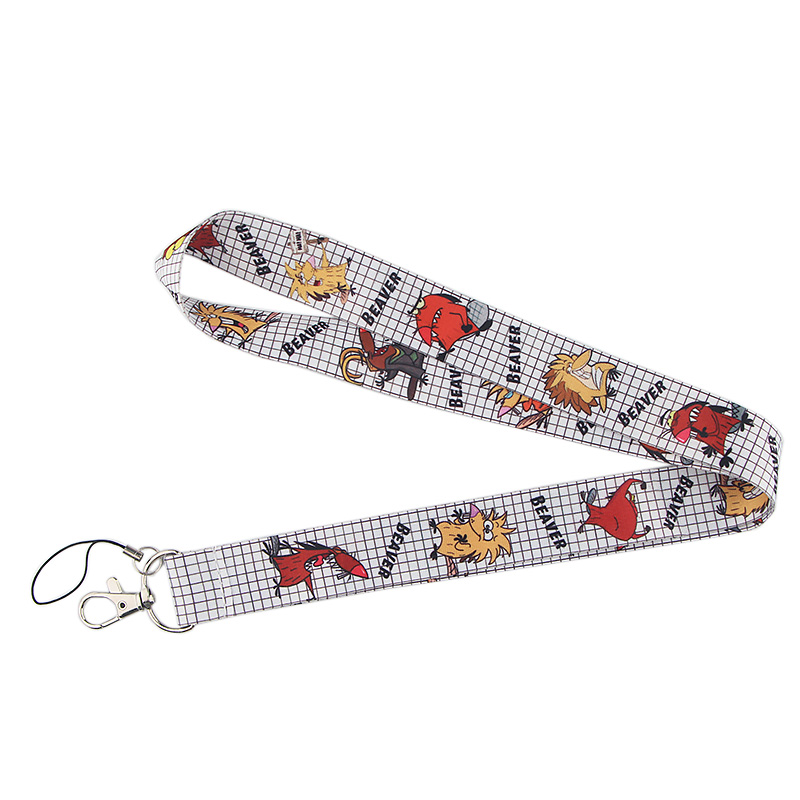 P4013 Dongmanli The Angry Beaver Keychain Lanyards Id Badge Holder ID Card Pass Gym Mobile Key Strap